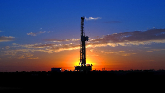 Gas Rig at Sunset
